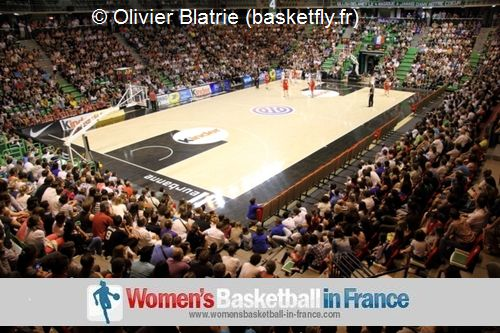 Record crowds for French international Basketball &copy;  Olivier Blatrie - basketfly.fr<