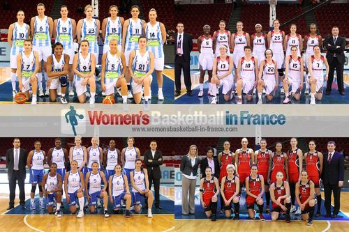 2012 EuroLeague Women Fina 8 team pictures:Fenerbahçe SK, Rivas Ecopolis, Ros Casares and Sparta&K M. R. Vidnoje