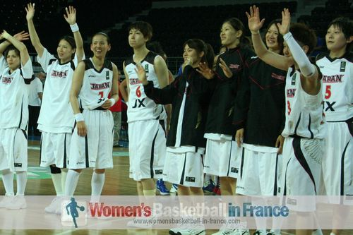 2012 FIBA Olympic Qualifying Tournament for Women: Japan qualify for quarter-final ©  womensbasketball-in-france.com