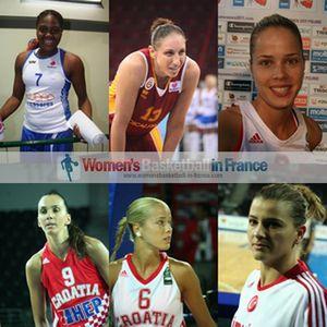Isabelle Yacoubou-Dehoui, Diana Taurasi, Antonija Misura, Marija Vrsaljko,Birsel Vardarli
