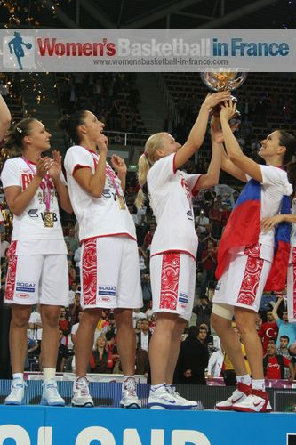 Lifting 2011 EuroBasket women's trophy