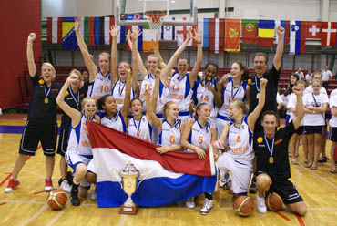Netherlands U16 promoted to Division A © NBB