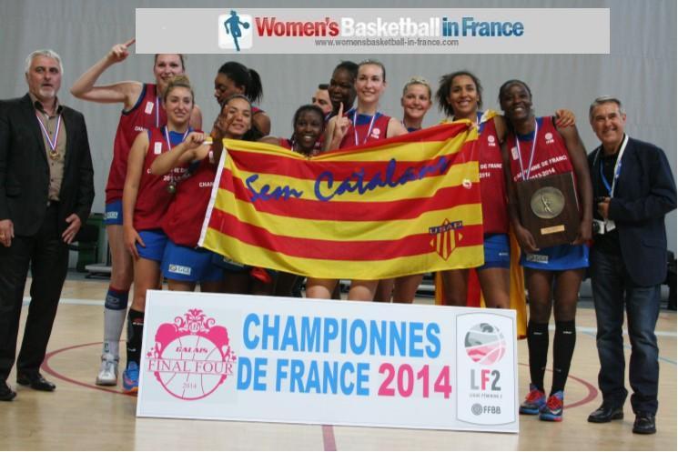 Perpignan Basket 66 2014 LF2 champions