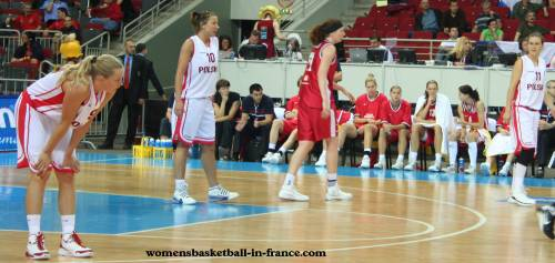 Poland and the Czech Republic at EuroBasket Women2009 © womensbasketball-in-france.com
