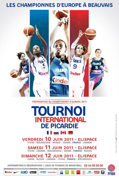 2011 poster Tournoi International de Picardie © FFBB