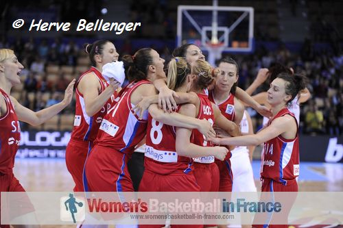 Serbian players at EuroBasket Women 2013