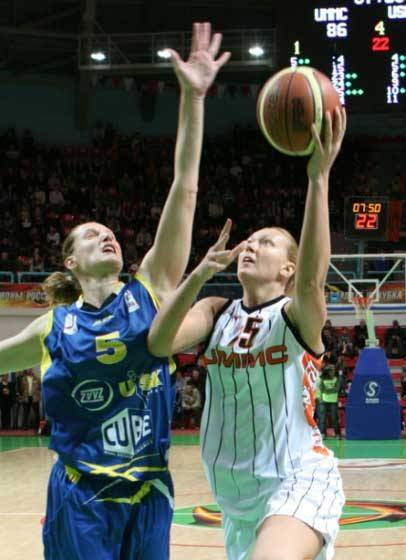 women playing basketball in EuroLeague ©  FIBA Europe