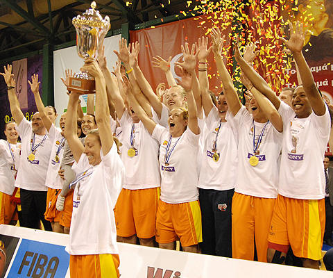 EuroCup Women 2010 Champions: Sony Athinaikos © Sony Athinaikos-FIBA Europe
