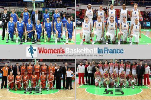 2011 EuroLeague Women final four teams ©  FIBA Europe