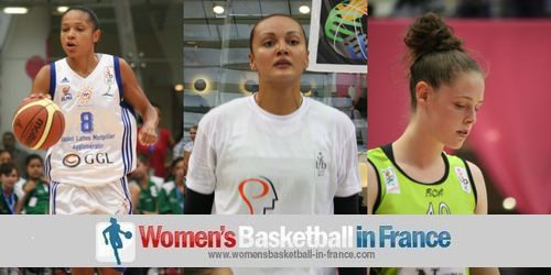 Edwige Lawson-Wade, Mistie Mims and  Sara Chevaugeon © womensbasketball-in-france.com