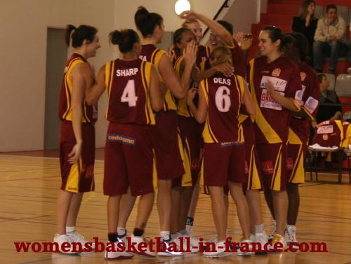 Aix Celebrate beating Nantes-Rezé ©womensbasketball-in-france