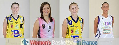 Mélanie Arnaud, Camille Aubert, Naura El-Gargati and Sylvie Gruszczynski © IS/FFBB/Bellenger