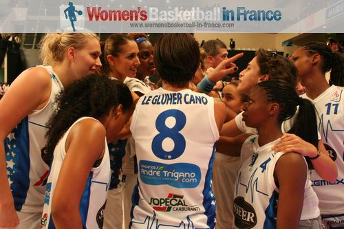 Basket Landes players at the 2012 Open LFB
