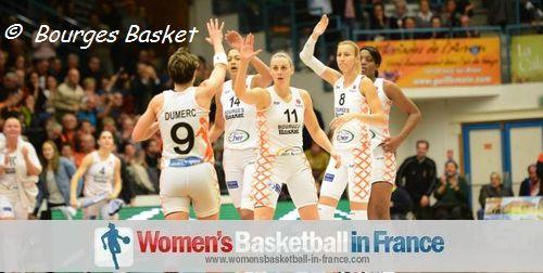 Bourges Basket players at the Prado