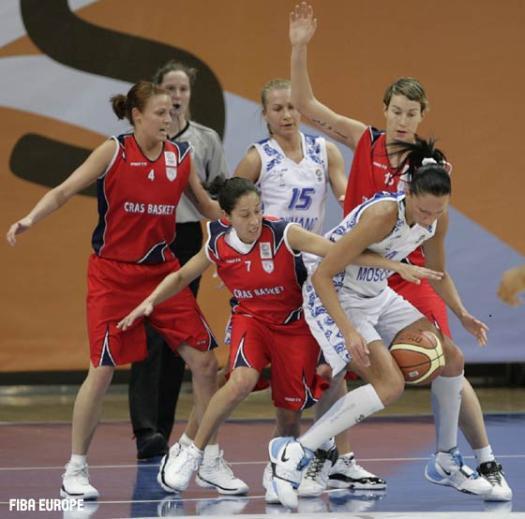 EuroCup Women 2009 semi-final action between Cras Basket and Dynamo Moscow  © Fiba Europe