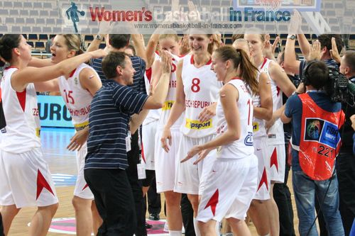 Czech Republic qualified for semi-final at EuroBasket Women 2011 © womensbasketball-in-france.com