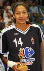 2011 LFB French player of the year: Emméline Ndongue © Bourges Basket