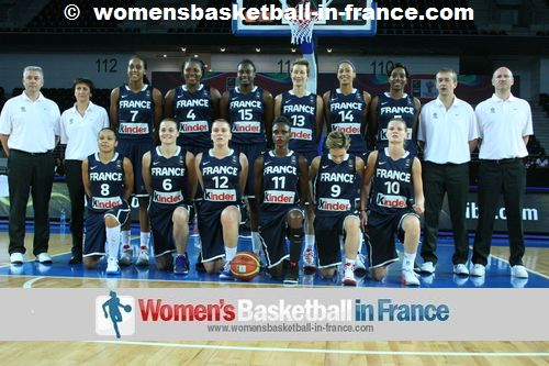 France Women 2012 Olympic Games basketball team © womensbasketball-in-france.com