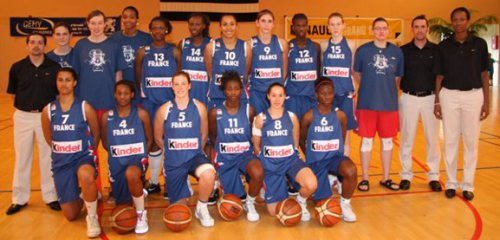 France U18 2009 in   Fougères   © tournoi international de basket-ball - Fougères