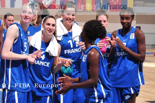 French U18 players after first match at Global Vision U18 European Championship  © FIBA Europe / Viktor Rébay