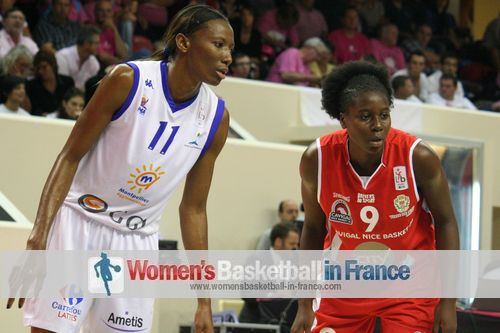 Geraldine Robert and Alice Nayo getting ready to post up at the 2013 Open LFB