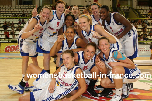 Great Britain win the Gold medal at the U20 Championships for the first time © womensbasketball-in-france.com