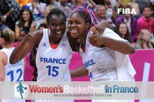 Isabelle Yacoubou-Dehou and Jennifer Digbeu ©  FIBA