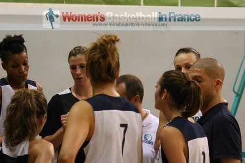 Nantes-Rezé  players talking tactics in training