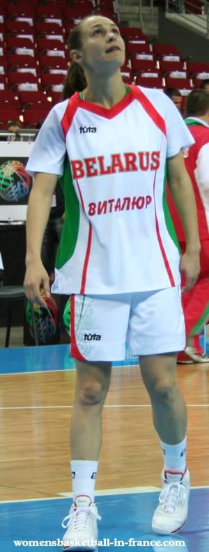 Natallia Marchanka  at EuroBasket Women2009 © womensbasketball-in-france.com