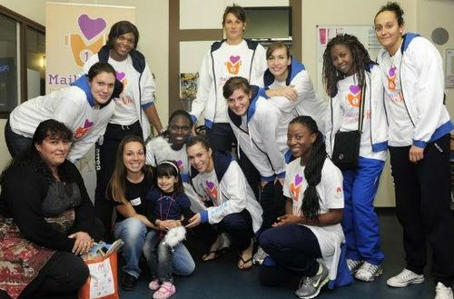 Perpignan players on Community service © not known
