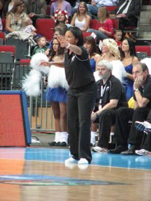 Pokey Chatman at EuroBasket Women 2009 with the Slovak Republic© womensbasketball-in-france.com