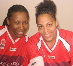 Géraldine Robert and Kathy Wambe