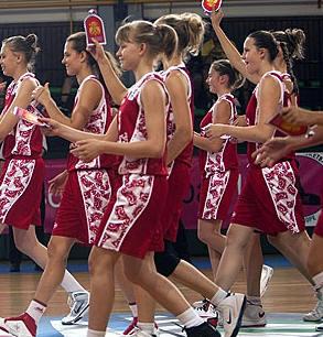 Russia U16 getting ready to play © FIBA Europe