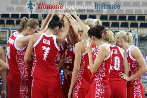 Russia on the way to semi-final at EuroBasket Women 2011 © womensbasketball-in-france.com