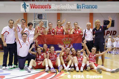 Serbian U18 players the at the FIBA Europe 2012 U18 European Championship final © FIBA Europe