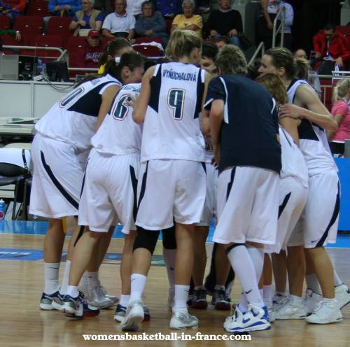 The Slovak Republic on a high after beating Latvia © womensbasketball-in-france.com