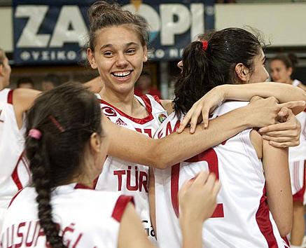 Turkey U16 players celebrating  © FIBA Europe
