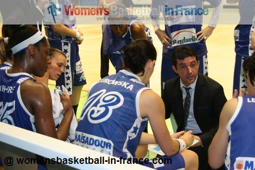 Last time-out of the season for Basket Landes © womensbasketball-in-france.com