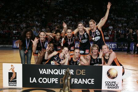 Bourges Basket win 2008 French cup