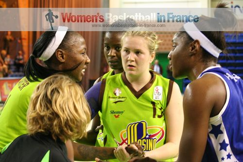 Amisha Carter, Marie-Frédérique Aiyssi, Marina Solopova and Jennifer Humphrey © womensbasketball-in-france.com