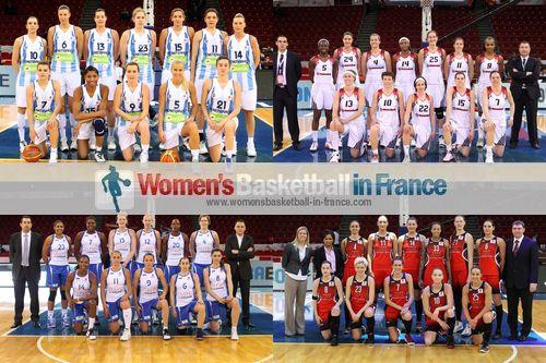 2012 EuroLeague Women Fina 8 team pictures:Fenerbahçe SK, Rivas Ecopolis, Ros Casares and Sparta&K M. R. Vidnoje