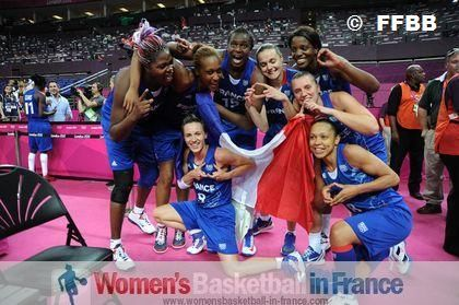 France qualify for Olympic game final ©  FFBB