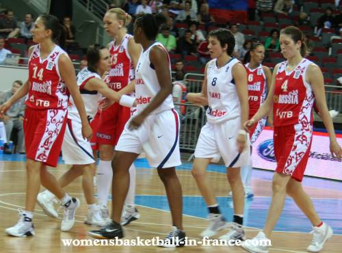 France beat Russia at  EuroBasket Women 2009 © womensbasketball-in-france.com