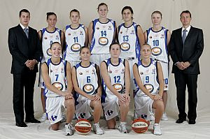 Lattes Montpellier 2008-2009 ©Ligue Féminine de BasketBall