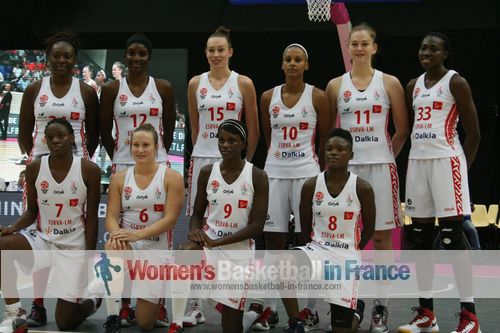 Villeneuve d'Ascq women's basketball team 2013-14 for LFB and EuroCup Women